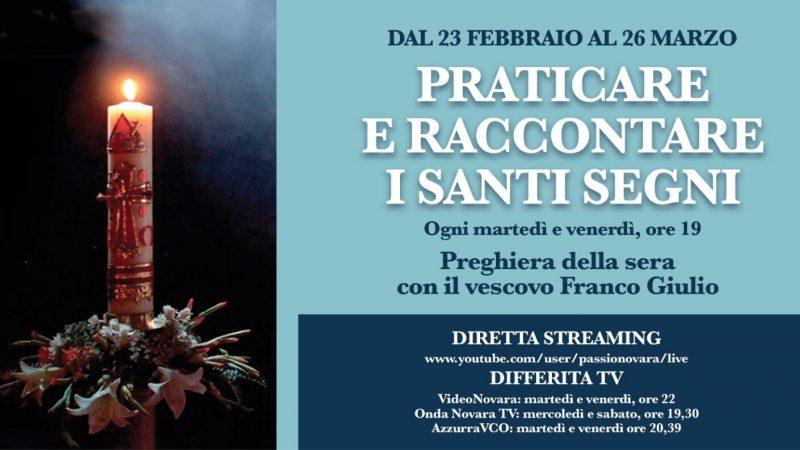 Preghiera della sera con il Vescovo Franco Giulio