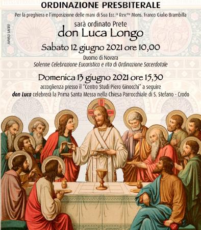 Domenica 13: Prima Messa di Don Luca Longo (video)