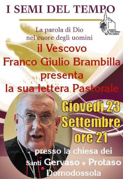 Domodossola 23.09.21 – Presentazione lettera Pastorale Vescovo